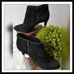 Black Suede Ankle Booties By Alex Marie